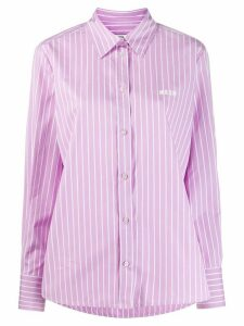 MSGM striped 'futuro' shirt - PURPLE