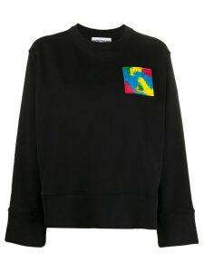 Moschino logo patch sweatshirt - Black