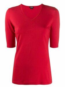 Aspesi v-neck fitted T-shirt - Red