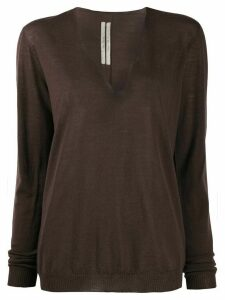 Rick Owens fine knit jumper - Brown