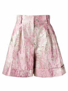 Dolce & Gabbana Lurex jacquard shorts - PINK