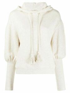 Ulla Johnson tassel drawstring hoodie - NEUTRALS