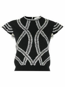 Alexander McQueen jacquard-knit top - Black