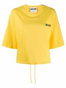 Moschino logo appliqué T-shirt - Yellow