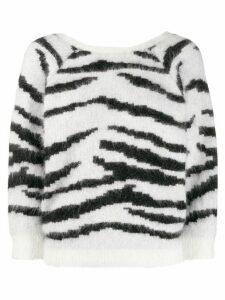 Ba & Sh Zaya animal pattern sweater - White