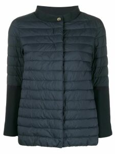 Herno cropped-sleeves padded 0jacket - Blue