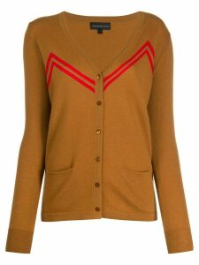 Cashmere In Love zigzag stripes cardigan - Brown