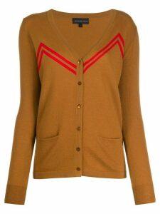 Cashmere In Love zigzag stripes cardigan - Brown