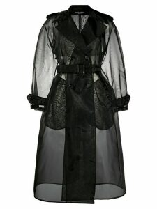 Dolce & Gabbana double-breasted organza trench coat - Black
