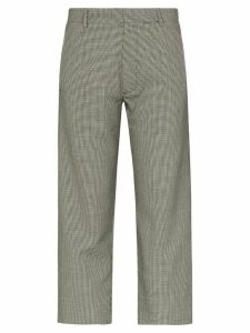 Delada dogtooth slim fit trousers - Black