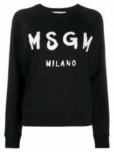 MSGM brushstroke logo sweatshirt - Black
