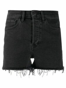 3x1 high rise denim shorts - Black