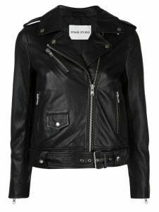 Stand Studio Polly zip-up biker jacket - Black