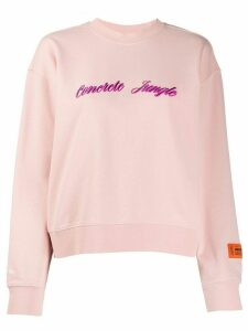 Heron Preston concrete jungle sweatshirt - PINK