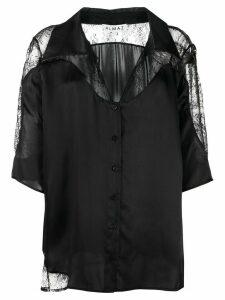 Almaz lace inserts oversized shirt - Black