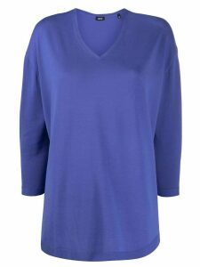 Aspesi v-neck lightweight jumper - PURPLE
