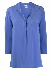 Aspesi henley silk blouse - Blue