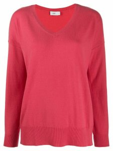 Closed oversized cashmere jumper - PINK