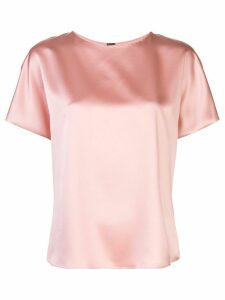 Adam Lippes short-sleeved silk blouse - PINK