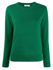 Closed crew-neck cashmere jumper - Green
