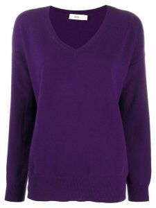 Closed oversized cashmere jumper - PURPLE