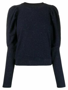 Ulla Johnson crew neck balloon-sleeved jumper - Blue