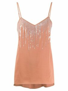Fabiana Filippi sequinned tank top - Brown