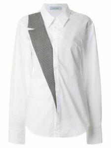Delada tailored lapel hybrid shirt - White