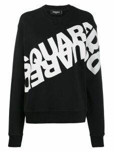Dsquared2 logo printed sweatshirt - Black