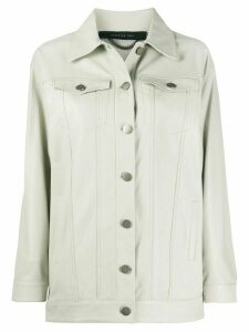 Federica Tosi buttoned leather jacket - NEUTRALS