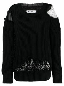 Almaz lace panels jumper - Black