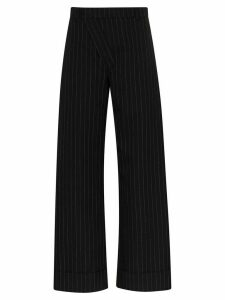 Delada pinstripe wide leg trousers - Black