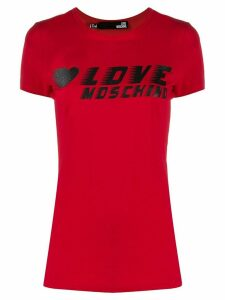 Love Moschino logo-print crew neck T-shirt - Red