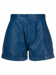 Federica Tosi high-waisted pleated shorts - Blue
