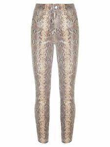 RtA Madrid snakeskin-print trousers - NEUTRALS