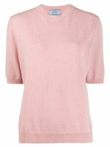 Prada short sleeved knitted top - PINK