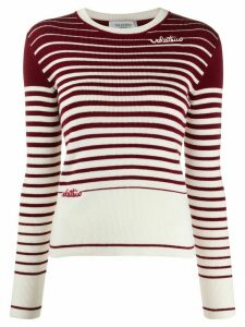 Valentino degradé stripes jumper - Red