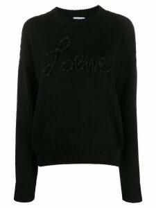 Loewe logo appliqué jumper - Black