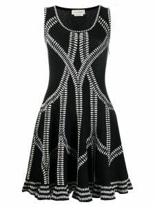 Alexander McQueen jacquard-knit dress - Black