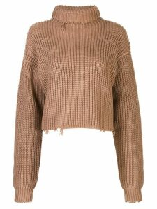 RtA Beau cropped jumper - Brown