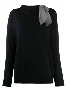 Fabiana Filippi tie-neck cutout sweater - Blue