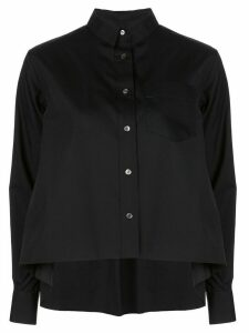 Sacai oversized flared shirt - Black