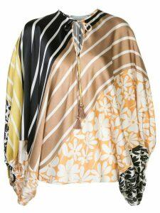 Silvia Tcherassi Hebe panelled blouse - Multicolour