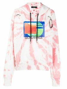 Diesel tie-dye graphic print hoodie - PINK