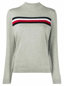 Tommy Hilfiger stripe trim jumper - Grey