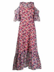 Twin-Set floral print chiffon maxi dress - Blue