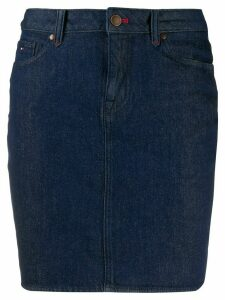 Tommy Hilfiger denim fitted skirt - Blue