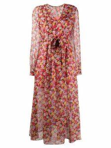Twin-Set floral print maxi dress - PINK