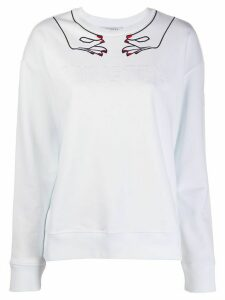 Vivetta embroidered logo jumper - White