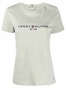 Tommy Hilfiger logo print T-shirt - Grey